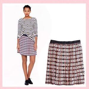 J. Crew Diamond Tile Silk Skirt Size 6